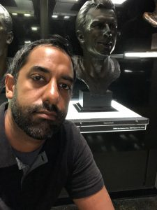 Picture with Joe Montana's Hall of Fame bust.